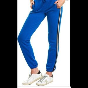 ATM cobalt side striped joggers